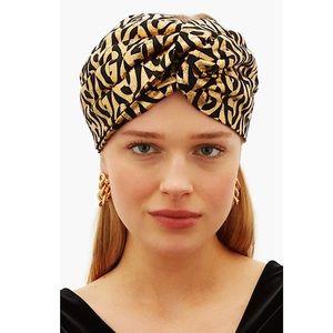SALE 🔥 GUCCI Logo Metallic Turban/Headband NWT